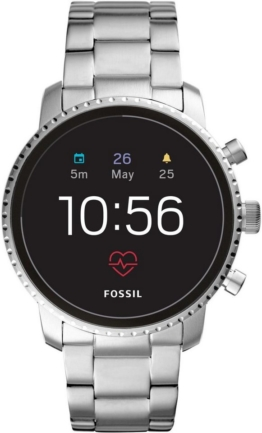 Fossil Smartwatches Q EXPLORIST HR, FTW4011 Smartwatch (Wear OS by Google, mit individuell einstellbarem Zifferblatt)