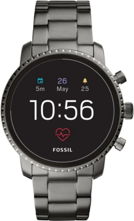 Fossil Smartwatches Q EXPLORIST HR, FTW4012 Smartwatch (Wear OS by Google, mit individuell einstellbarem Zifferblatt)