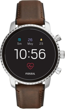 Fossil Smartwatches Q EXPLORIST HR, FTW4015 Smartwatch (Wear OS by Google, mit individuell einstellbarem Zifferblatt)