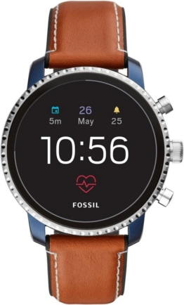 Fossil Smartwatches Q EXPLORIST HR, FTW4016 Smartwatch (Wear OS by Google, mit individuell einstellbarem Zifferblatt)