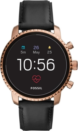 Fossil Smartwatches Q EXPLORIST HR, FTW4017 Smartwatch (Wear OS by Google, mit individuell einstellbarem Zifferblatt)