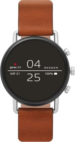 SKAGEN CONNECTED FALSTER, SKT5104 Smartwatch (1,19 Zoll, Wear OS by Google, mit individuell einstellbarem Zifferblatt)