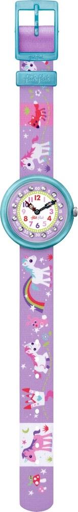 Flik Flak Fbnp033 Mädchen-Uhr Magical Unicorns Quarz Textil Armband