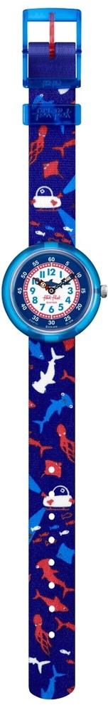 Flik Flak Fbnp131 Jungen-Uhr Deep Trip Quarz Textil Armband Ø 31,85 mm