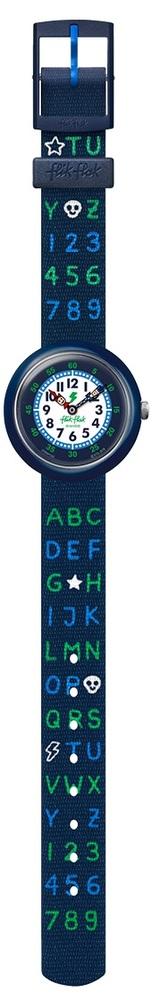 Flik Flak Fbnp132 Jungen-Uhr Blue Ab34 Analog Quarz Textil-Armband Ø 31,85 mm