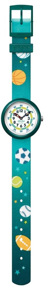 Flik Flak Fbnp138 Jungen-Uhr Balltime Quarz Textil Armband Ø 31,85 mm