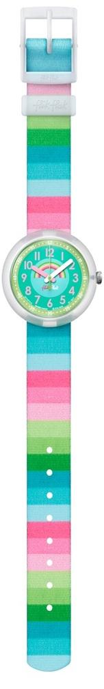Flik Flak Fpnp014 Mädchen-Uhr Stripy Dreams Quarz Textil Armband