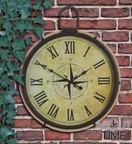 About Time Gartenuhr mit Seemotiven 50 cm - 1