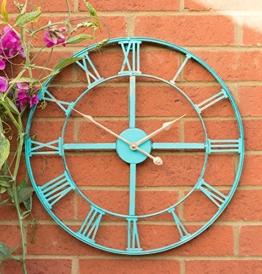 About TimeTM Gartenuhr aus Metall in Antik-Optik, 46cm - 1