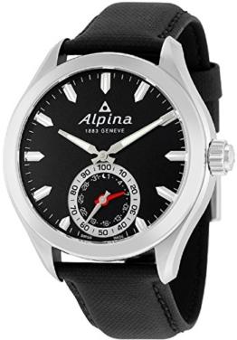 Alpina Herren Analog Quarz Uhr mit Leder Armband AL-285BS5AQ6 - 1