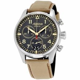 Alpina Startimer Herren-Armbanduhr 44mm Armband Leder Quarz AL-372BBGR4S6 - 1
