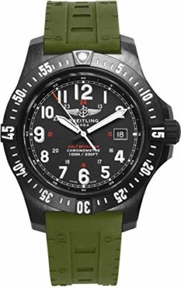 Breitling Colt SkyRacer Herren-Armbanduhr mit grünem Skyracer Kautschukband X74320E4/BF87-298S - 1