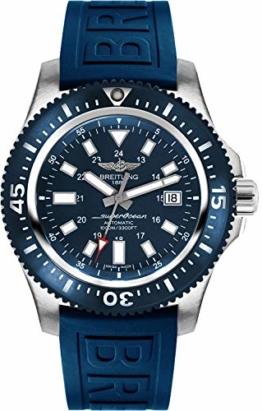 Breitling Superocean 44 Special Steel Herren-Armbanduhr mit blauem Kautschukband Y1739316/C959-158S - 1
