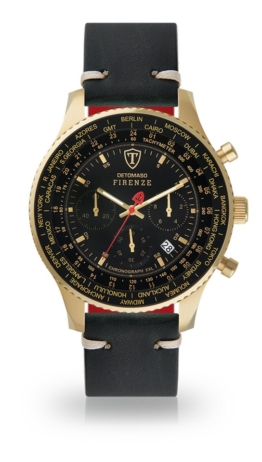 Detomaso Chronograph »FIRENZE XXL GOLD BLACK«