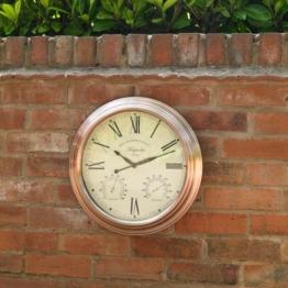 Four Seasons Vintage GCLOCK12 Magnolien-Uhr, transparent, 38,1 cm - 1