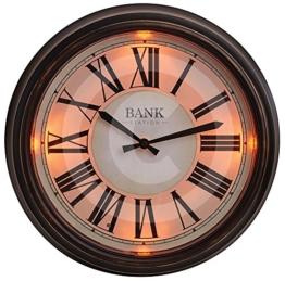 "Gardman LED-Uhr""Bank Station"", dunkel braun, 36x7x36 cm, 17216 - 1"