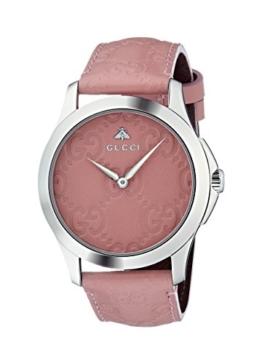 Gucci Damen Datum klassisch Quarz Uhr mit Leder Armband YA1264030 - 1