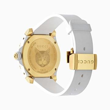 Gucci Uhr Dive cauuciu wei-gehuse pvd Gold-gelb YA136322 - 2