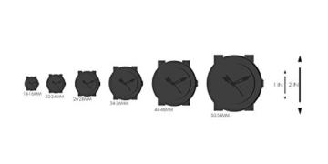 Gucci Unisex ohne Quarz Uhr mit Leder Armband YA1264007 - 4