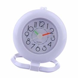 Homyl Duschuhr Badezimmeruhr Saugnapf Uhr mit Handtuchring zum Hängen - Weiß - 1
