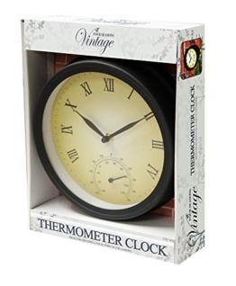 Kingfisher Garten Uhr und Thermometer - 1