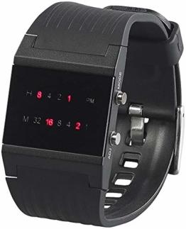 """St. Leonhard Herren Binär Uhr: Binär-Armbanduhr """"Future Line"""" mit roter Anzeige - 1"""