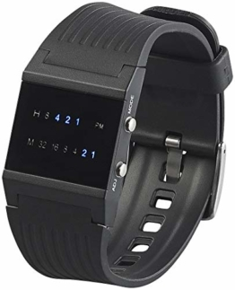 St. Leonhard Herren Uhr Digital Digitales Quarzwerk mit Kunststoff Armband W305HB - 1