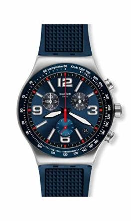 Swatch Herren Chronograph Quarz Uhr mit Gummi Armband YVS454 - 1