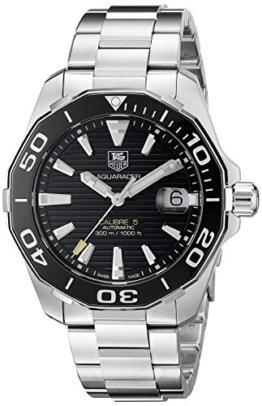TAG Heuer Herren WAY211A.BA0928 Aquaracr Analog Display Schweizer Automatik Silber Armbanduhr - 1