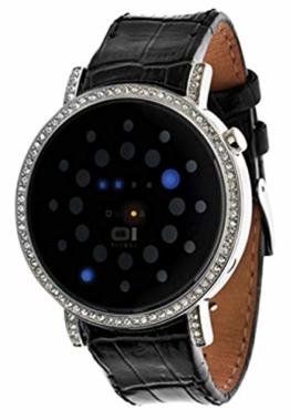 Thumbs Up Unisex Binär Quarz Uhr mit Leder Armband BINORS502B1 - 1
