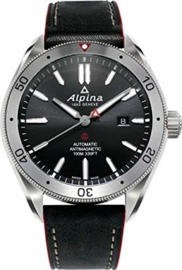Alpina Herren Analog Automatik Uhr mit Leder Armband AL-525BS5AQ6 - 1
