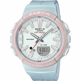 BABY-G Damen Analog-Digital Quarz Uhr mit Harz Armband BGS-100SC-2AER - 1