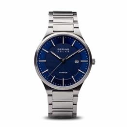 BERING Herren Analog Quarz Uhr mit Titan Armband 15239-777 - 1
