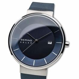 BERING Herren Analog Solar Uhr mit Edelstahl Armband 14639-307 - 1