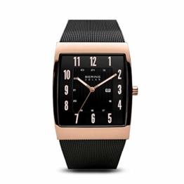 BERING Herren Analog Solar Uhr mit Edelstahl Armband 16433-166 - 1