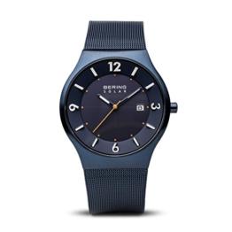 Bering Herren-Armbanduhr Analog Milanaise Blau 14440-393 - 1
