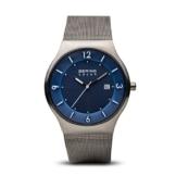 BERING Herren-Armbanduhr Analog Solar Edelstahl 14440-007 - 1