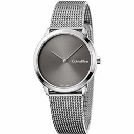 Calvin Klein Damen Analog Quarz Uhr mit Edelstahl Armband K3M221Y3 - 1