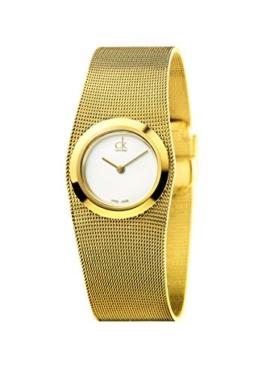 Calvin Klein Damen Analog Quarz Uhr mit Edelstahl Armband K3T23526 - 1