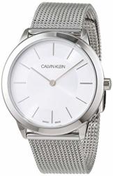 Calvin Klein Damen-Armbanduhr XS minimal Analog Quarz Edelstahl K3M22126 - 1