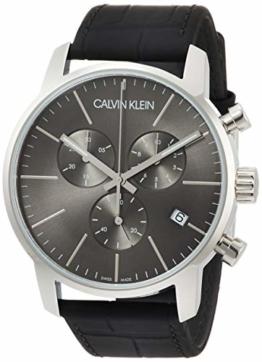 Calvin Klein Herren-Armbanduhr Chronograph Quarz Leder K2G271C3 - 1