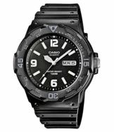 Casio Collection Herren-Armbanduhr MRW 200H 1B2VEF, schwarz/Schwarz - 1