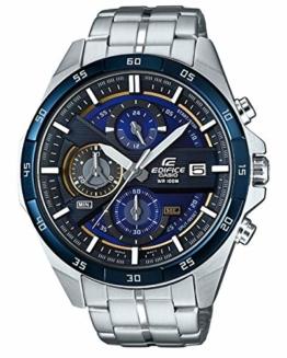 Casio Edifice Herrenarmbanduhr EFR-556DB-2AVUEF, blau schwarz, massives Edelstahlgehäuse und Armband, 10 BAR - 1