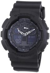 Casio G-Shock Analog-Digital Herrenarmbanduhr GA-100 schwarz, 20 BAR - 1