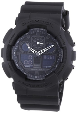 Casio G-Shock Analog-Digital Herrenarmbanduhr GA-100 schwarz, 20 BAR - 1
