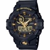 Casio G-Shock Analog-Digital Herrenarmbanduhr GA-710B gelb schwarz, 20 BAR - 1
