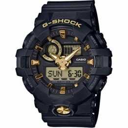 Casio G-Shock Analog-Digital Herrenarmbanduhr GA-710B gelb schwarz, 20 BAR - 1