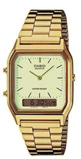 Casio Herren-Armbanduhr Retro Dual Digital Quarz Edelstahl AQ-230GA-9DMQYES - 1
