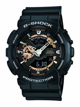 Casio Herren Chronograph Quarz Uhr mit Resin Armband GA-110RG-1AER - 1