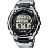 Casio Wave Ceptor Herrenarmbanduhr WV-200DE-1AVER, Funkuhr, schwarz, massives Edelstahlarmband - 1